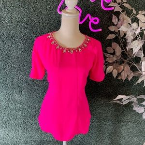 Lulumari jeweled pink blouse